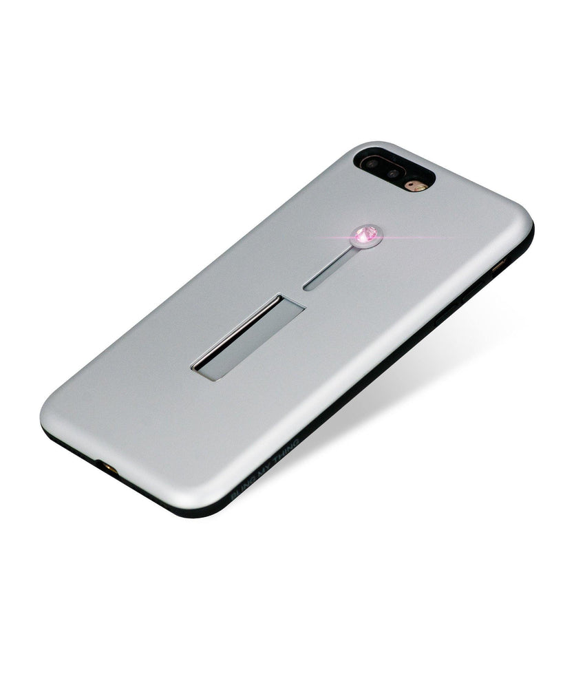 SelfieLOOP* Collection -SILVER/PINK - for iPhone 8 Plus - Bling My Thing