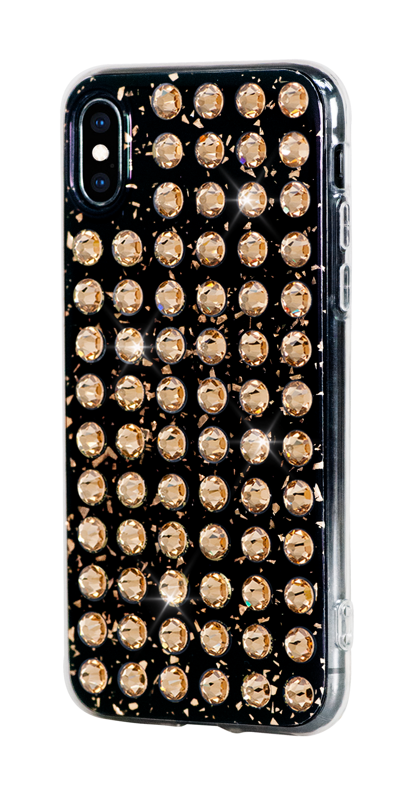 EXTRAVAGANZA ᛫ BLACK GALAXY ᛫ hard cover with Swarovski Crystals for iPhone X & XS - Bling My Thing - Swarovski Protective iPhone Case