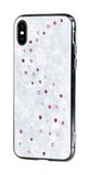 MILKY WAY ᛫ PEARL WHITE ᛫ clip-on TPU cover with Swarovski Crystals for iPhone X & XS - Bling My Thing