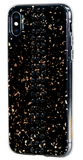 STRIPE ᛫ BLACK GALAXY ᛫ clip-on hard cover with Swarovski Crystals for iPhone XS Max - Bling My Thing