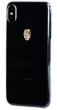 For iPhone XS Max: TREASURE ᛫ CLEAR ᛫ clip-on hard cover with Skull Swarovski Crystals - Bling My Thing