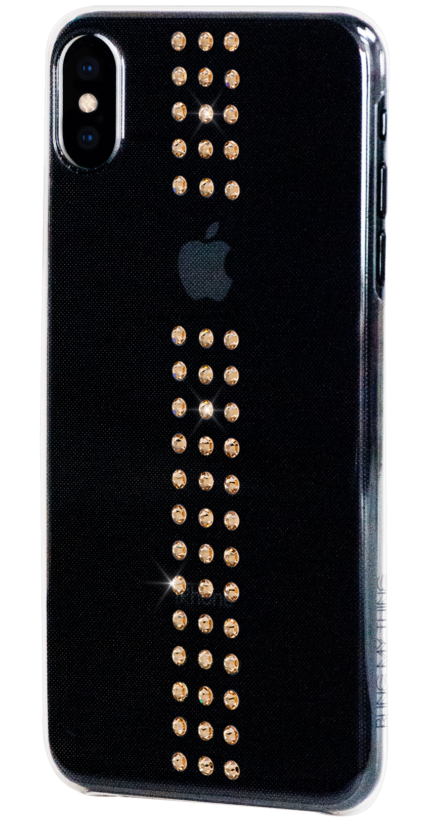 STRIPE ᛫ on ultra-clear case for iPhone XS Max - Bling My Thing - Swarovski Protective iPhone Case