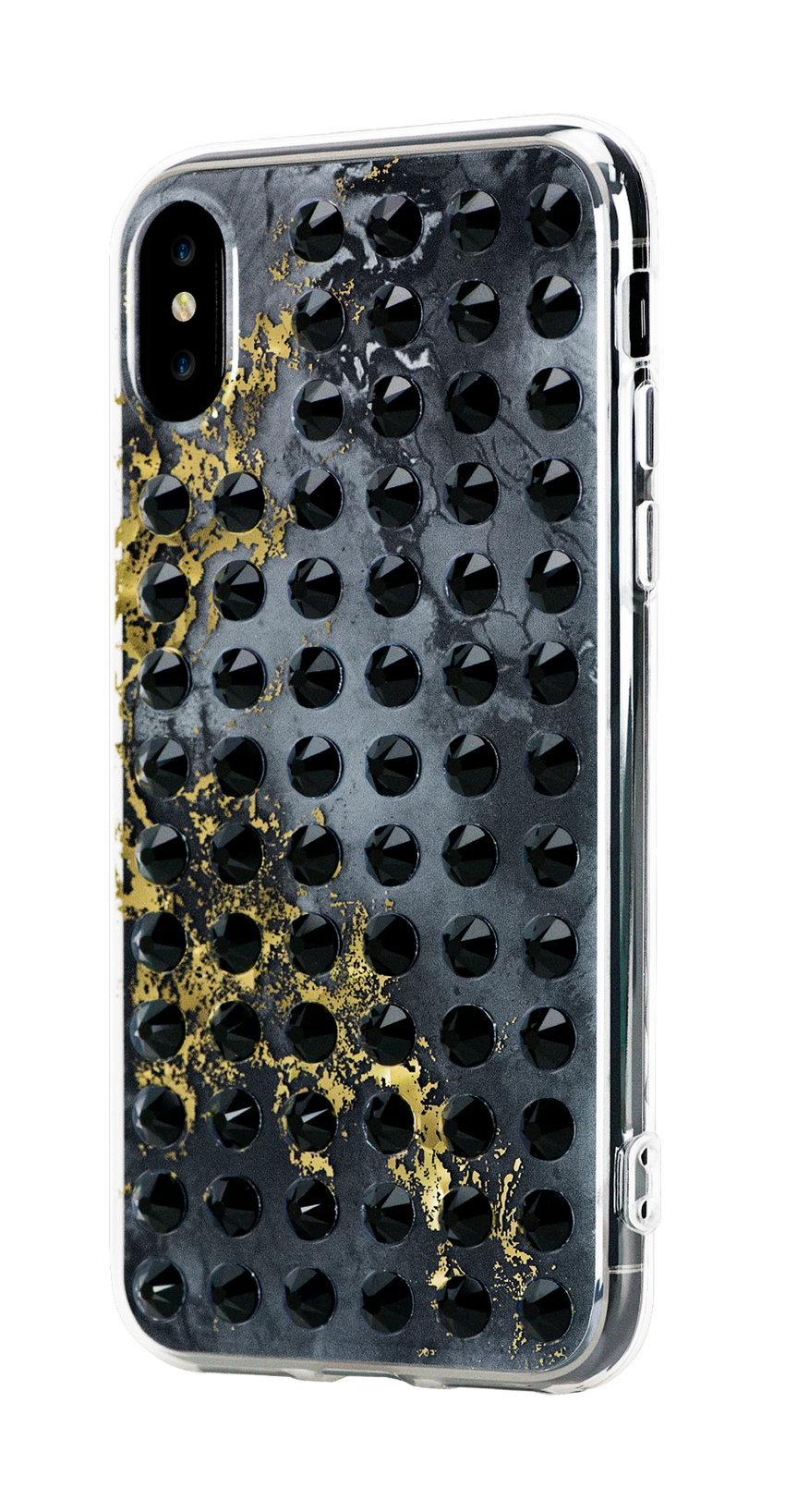 EXTRAVAGANZA ᛫ ONYX ᛫ hard clip-on case with Swarovski Crystals for iPhone X & XS - Bling My Thing