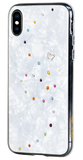 PAPILLON ᛫ PEARL WHITE ᛫ double-layered TPU cover with Swarovski Crystals - for iPhone XS Max - Bling My Thing
