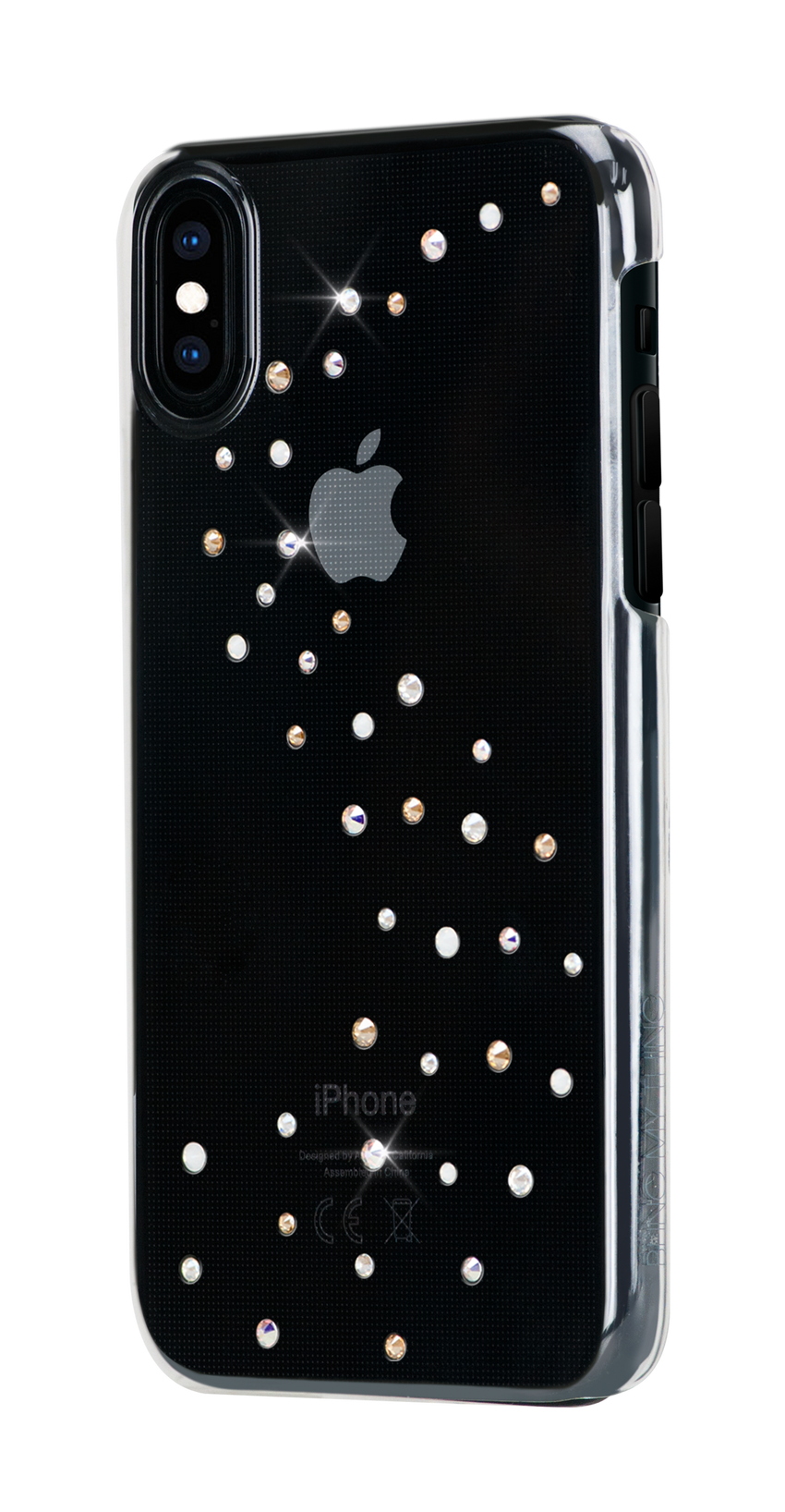 MILKY WAY ᛫ CLEAR ᛫ clip-on hard cover with Swarovski Crystals for iPhone X & XS - Bling My Thing