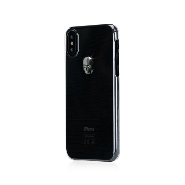 TREASURE ᛫ CLEAR ᛫ clip-on hard cover with SKULL Swarovski Crystals for iPhone X & XS