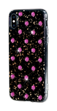 POLKA DOTS ᛫ Black Galaxy, cover with Swarovski Crystals for iPhone X & XS - Bling My Thing - Swarovski Protective iPhone Case