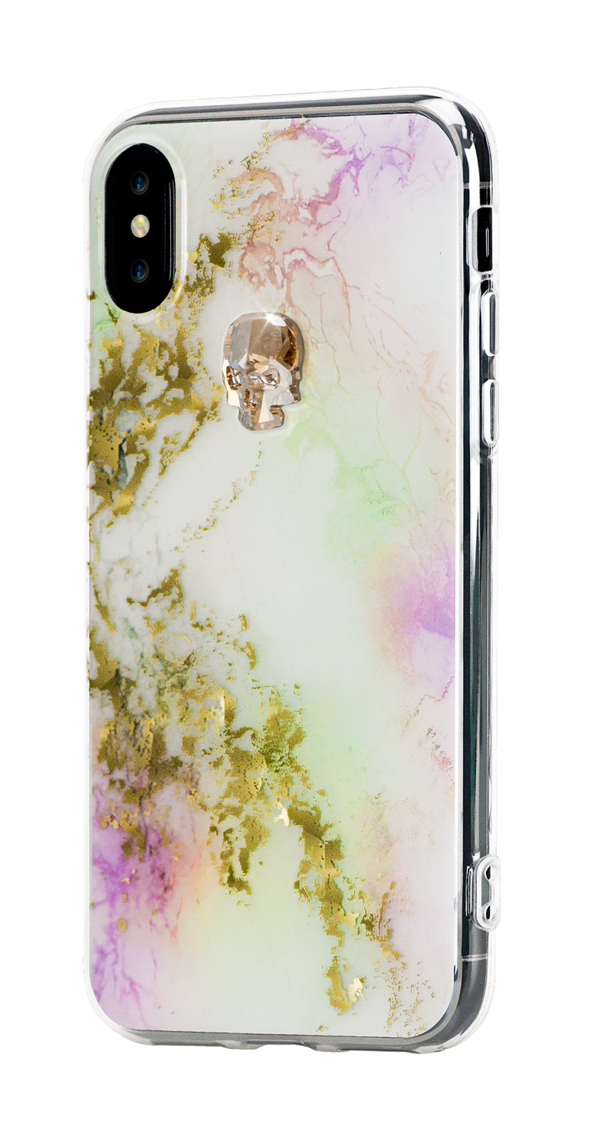TREASURE ᛫ UNICORN ᛫ clip-on hard cover with Skull Swarovski Crystals for iPhone X & XS - Bling My Thing