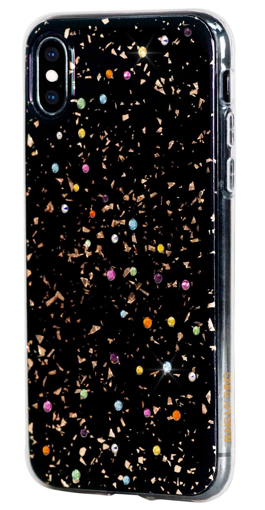 For iPhone XS Max : MILKY WAY ᛫ BLACK GALAXY ᛫ clip-on hard cover with Swarovski Crystals