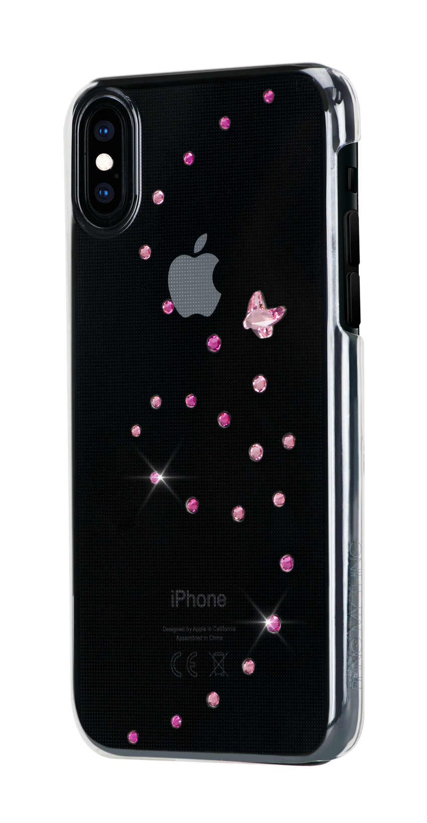 PAPILLON ᛫ CLEAR ᛫ clip-on hard cover with Swarovski Crystals for iPhone X & XS - Bling My Thing