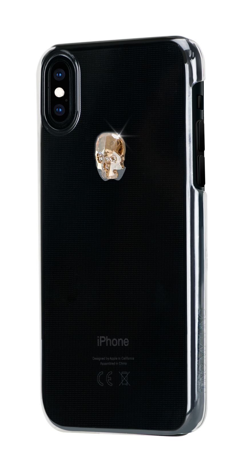TREASURE ᛫ CLEAR ᛫  clip-on hard cover with Skull Swarovski Crystals for iPhone X & XS - Bling My Thing - Swarovski Protective iPhone Case