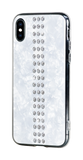 STRIPE ᛫ PEARL WHITE ᛫ clip-on hard cover with Swarovski Crystals for iPhone X & XS - Bling My Thing