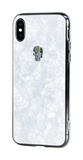 TREASURE ᛫ Pearl White ᛫  clip-on TPU cover with Skull Swarovski Crystals for iPhone X & XS - Bling My Thing - Swarovski Protective iPhone Case