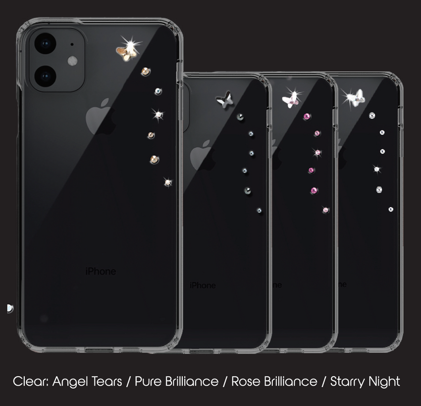 PAPILLON ᛫ CLEAR ᛫ Protective Cover with Swarovski® Crystals for iPhone 11 PRO - Bling My Thing