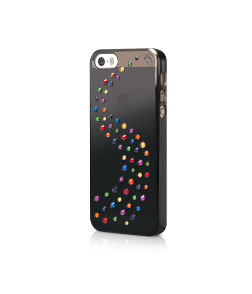 Black Metallic Mirror Case for iPhone SE : Milky Way / Rainbow Mix - Bling My Thing