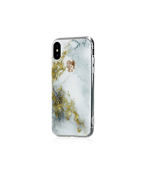 TREASURE COLLECTION ALABASTER / GOLD SKULL for iPhone X case