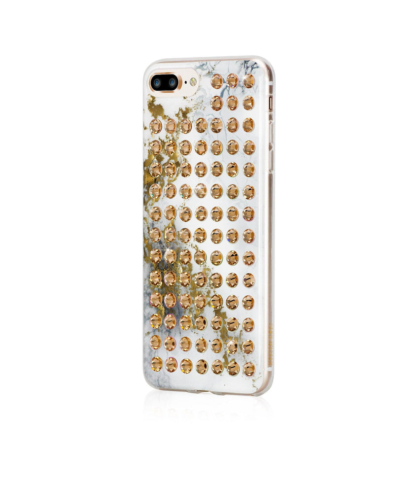 Ultimate Sparkle! ALABASTER GOLD BRILLIANCE Extravaganza gold case for iPhone 8 Plus - Bling My Thing