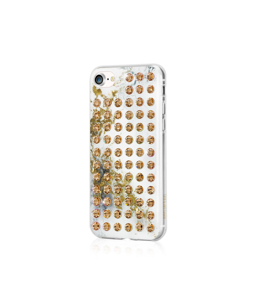 Ultimate Sparkle! ALABASTER GOLD BRILLIANCE Extravaganza gold case for iPhone 8 - Bling My Thing