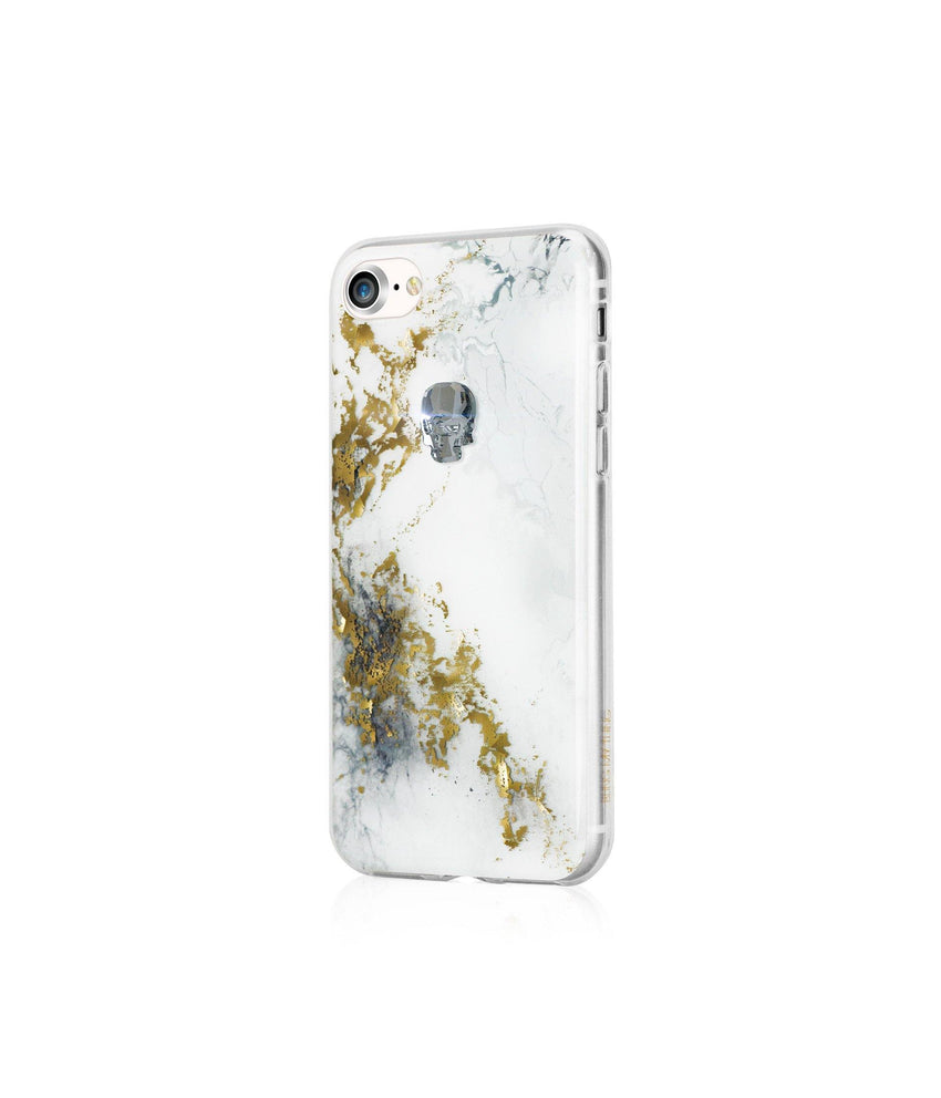 TREASURE COLLECTION ALABASTER / SILVER NIGHT SKULL for iPhone 8 case - Bling My Thing