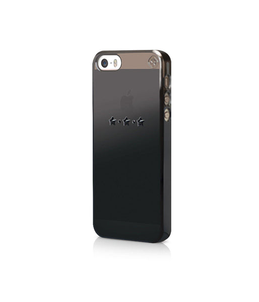 Black Metallic Mirror Case for iPhone SE : Les Étoiles / Black Jet - Bling My Thing