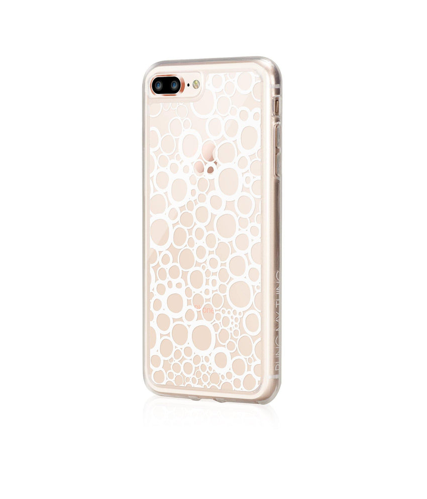 BUBBLES, Hybrid Case with Bumper, Expression, iPhone 8 Plus - Bling My Thing