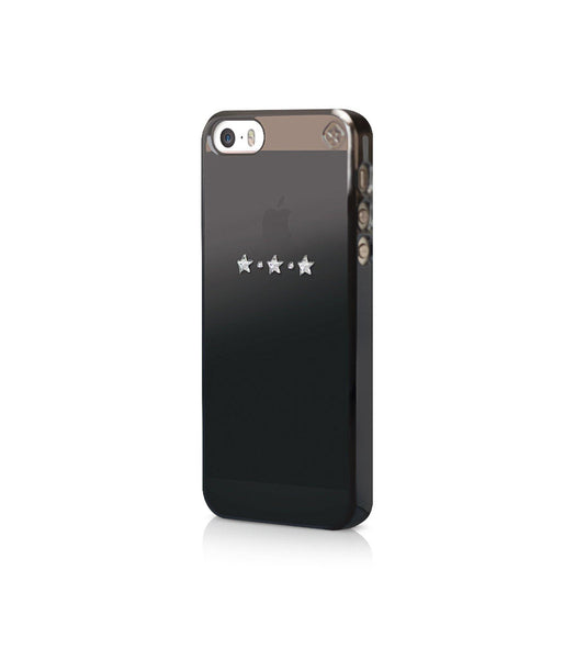 Black Metallic Mirror Case for iPhone SE : Les Étoiles / Crystal - Bling My Thing