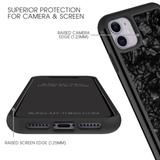 MINIMALIST • BLACK SHELL Hybrid shock-proof case for IPHONE 11 PRO MAX - Bling My Thing