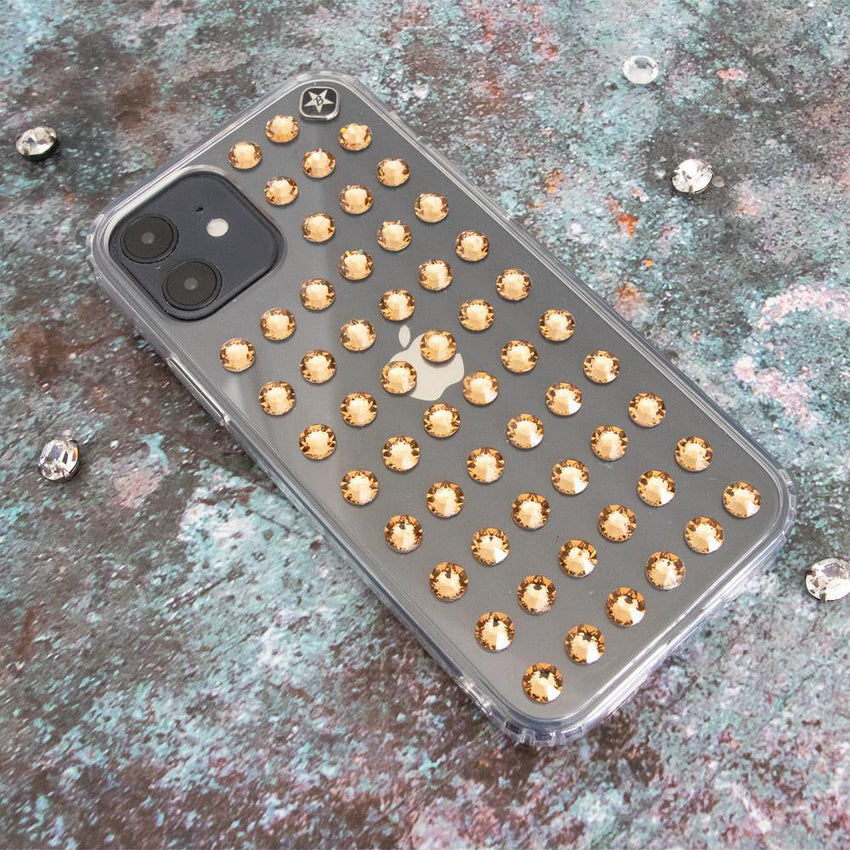 EXTRAVAGANZA ᛫ CLEAR ᛫ Cover with Swarovski® Crystals for iPhone 12 Mini - Bling My Thing - Swarovski Protective iPhone Case