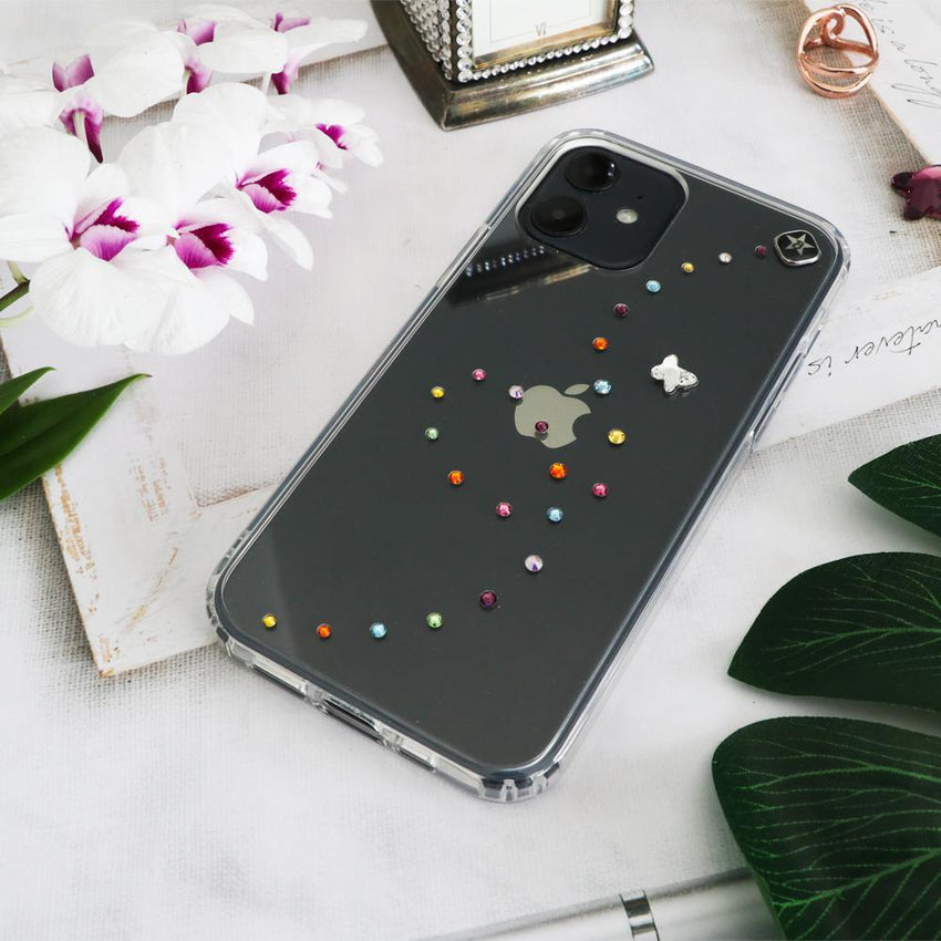 PAPILLON ᛫ CLEAR ᛫ Cover with Swarovski® Crystals for iPhone 12 Mini - Bling My Thing - Swarovski Protective iPhone Case