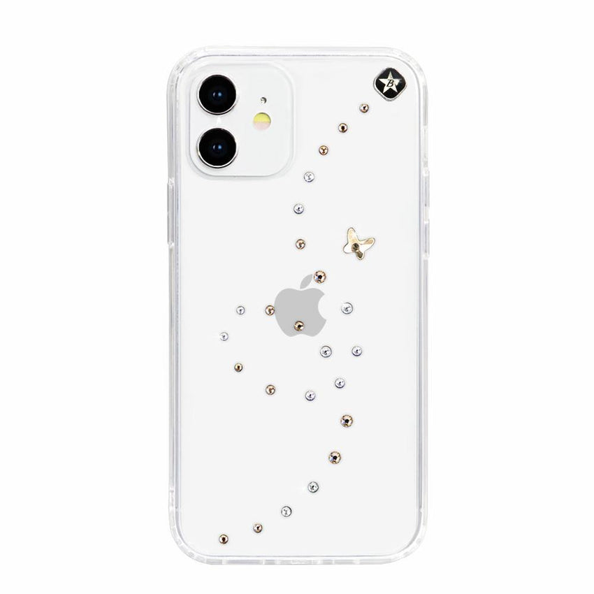 PAPILLON ᛫ CLEAR ᛫ Cover with Swarovski® Crystals for iPhone 12 - Bling My Thing - Swarovski Protective iPhone Case
