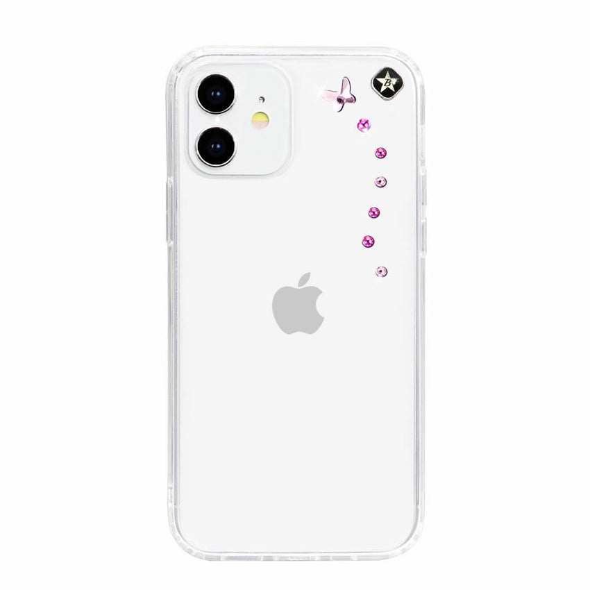 PAPILLON mini ᛫ CLEAR ᛫ Cover with Swarovski® Crystals for iPhone 12 - Bling My Thing - Swarovski Protective iPhone Case