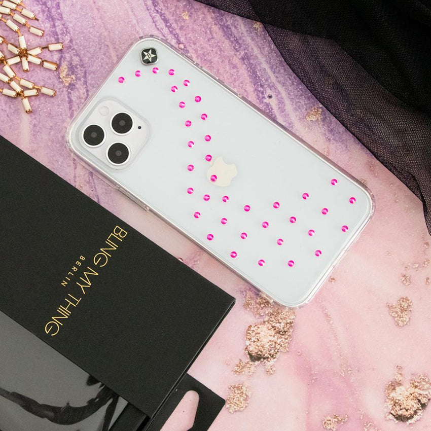 NEON MILKY WAY ᛫ CLEAR ᛫ Cover with Swarovski® Crystals for iPhone 12 Pro Max - Bling My Thing - Swarovski Protective iPhone Case