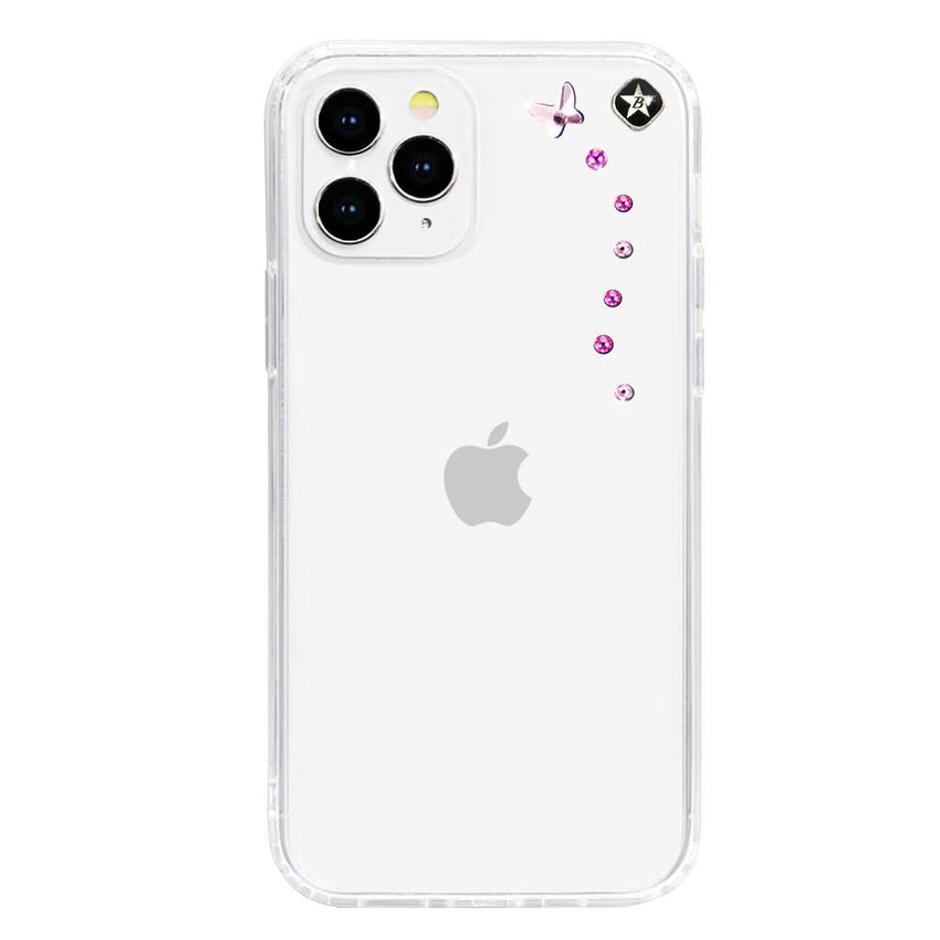 PAPILLON mini ᛫ CLEAR ᛫ Cover with Swarovski® Crystals for iPhone 12 Pro Max - Bling My Thing - Swarovski Protective iPhone Case