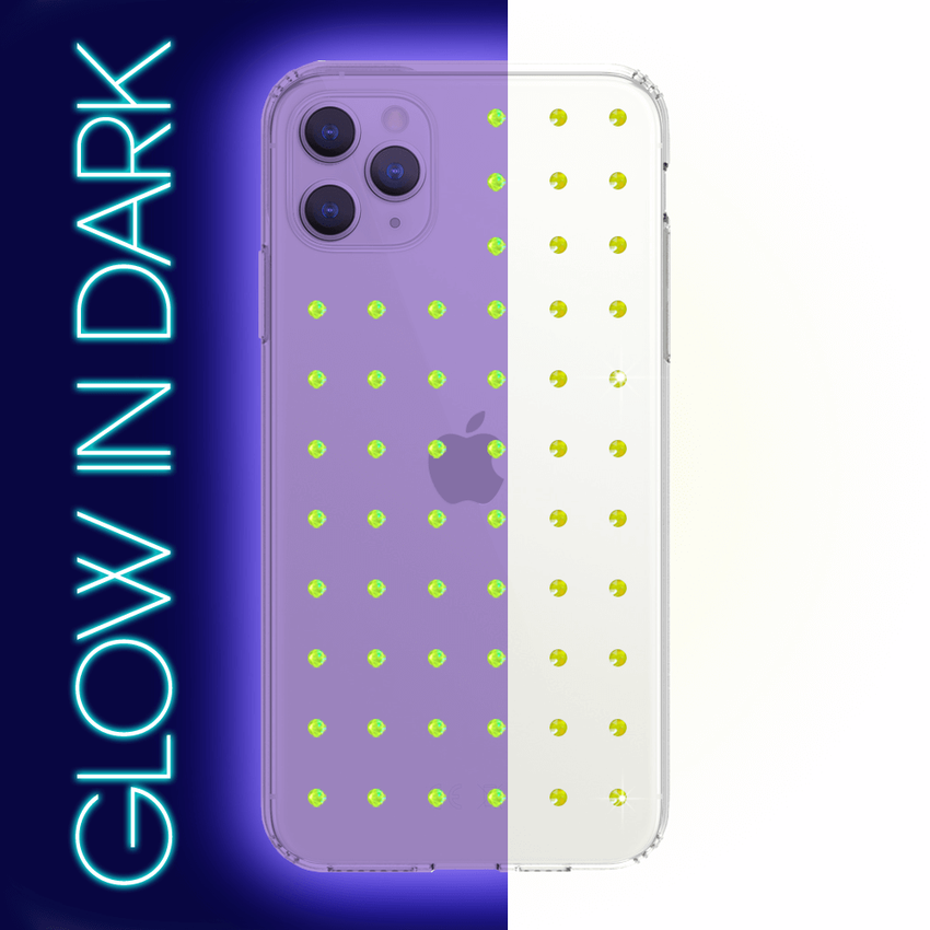 NEON mini EXTRAVAGANZA ᛫ CLEAR ᛫ Protective Cover with Swarovski® Crystals for iPhone 11 PRO MAX - Bling My Thing