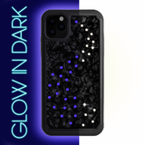 NEON MILKY WAY ᛫ BLACK SHELL ᛫ Protective Cover with Swarovski® Crystals for iPhone 11 PRO MAX - Bling My Thing - Swarovski Protective iPhone Case