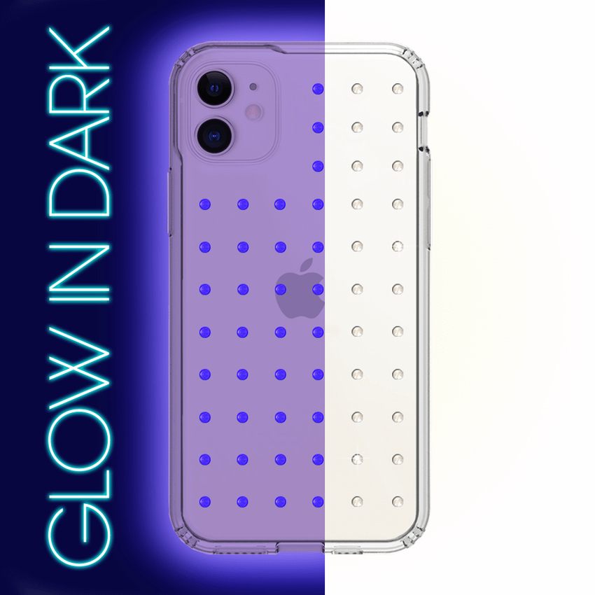 NEON mini EXTRAVAGANZA ᛫ CLEAR ᛫ Protective Cover with Swarovski® Crystals for iPhone 11 - Bling My Thing