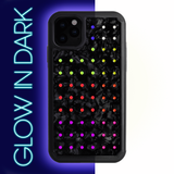 NEON mini EXTRAVAGANZA ᛫ BLACK SHELL ᛫ Protective Cover with Swarovski® Crystals for iPhone 11 - Bling My Thing