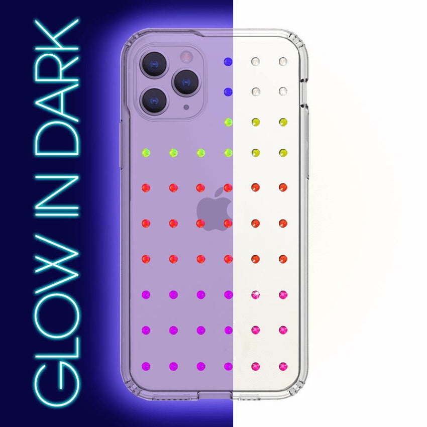 NEON mini EXTRAVAGANZA ᛫ CLEAR ᛫ Protective Cover with Swarovski® Crystals for iPhone 11 PRO - Bling My Thing