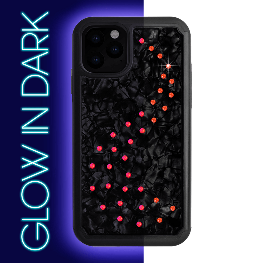 NEON MILKY WAY ᛫ BLACK SHELL ᛫ Protective Cover with Swarovski® Crystals for iPhone 11 PRO - Bling My Thing