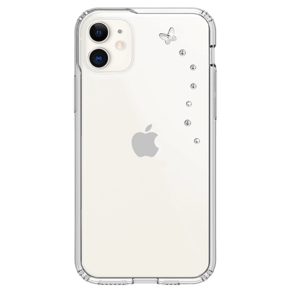 PAPILLON ᛫ CLEAR ᛫ Protective Cover with Swarovski® Crystals for iPhone 11 - Bling My Thing