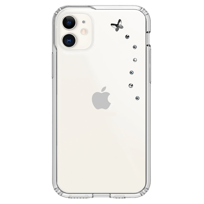 PAPILLON ᛫ CLEAR ᛫ protective cover with Swarovski Crystals for iPhone 11 - Bling My Thing