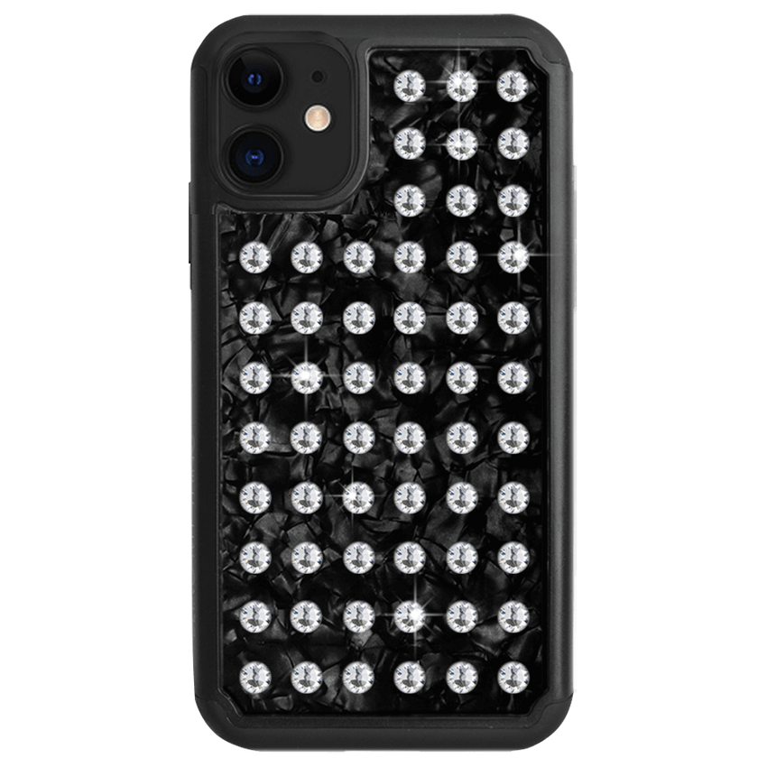 EXTRAVAGANZA ᛫ BLACK SHELL ᛫ protective cover with Swarovski Crystals for iPhone 11