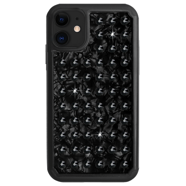 EXTRAVAGANZA ᛫ BLACK SHELL ᛫ Protective Cover with Swarovski® Crystals for iPhone 11 - Bling My Thing