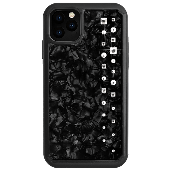 LUX ᛫ BLACK SHELL ᛫ Protective Cover with Swarovski® Crystals for iPhone 11 - Bling My Thing