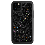 MILKY WAY ᛫ BLACK SHELL ᛫ protective cover with Swarovski Crystals for iPhone 11 - Bling My Thing