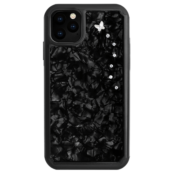 PAPILLON ᛫ BLACK SHELL ᛫ Protective Cover with Swarovski® Crystals for iPhone 11 - Bling My Thing