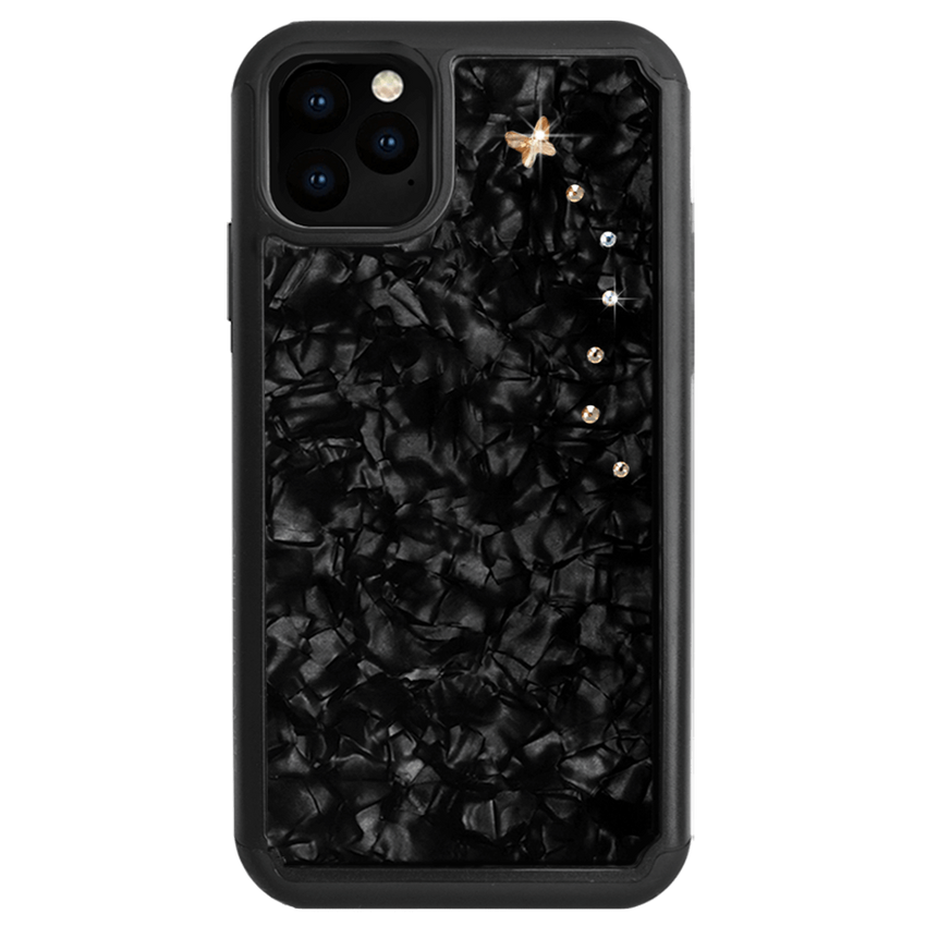 PAPILLON ᛫ BLACK SHELL ᛫ Protective Cover with Swarovski® Crystals for iPhone 11 - Bling My Thing - Swarovski Protective iPhone Case