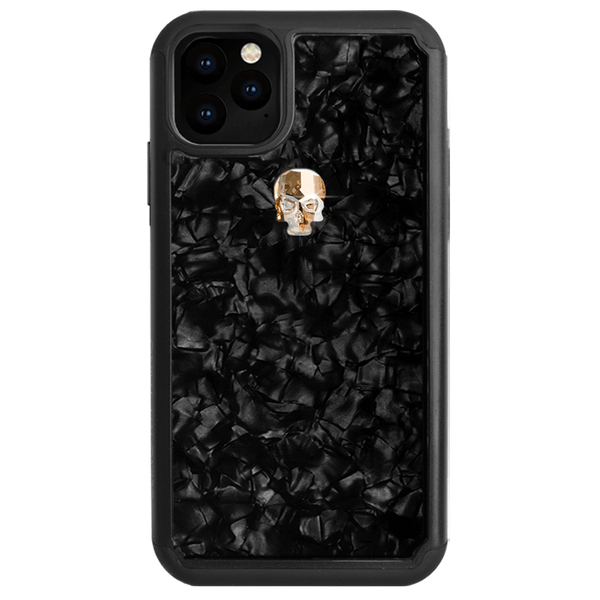TREASURE ᛫ BLACK SHELL ᛫ Protective Cover with Swarovski® Crystals for iPhone 11 - Bling My Thing - Swarovski Protective iPhone Case