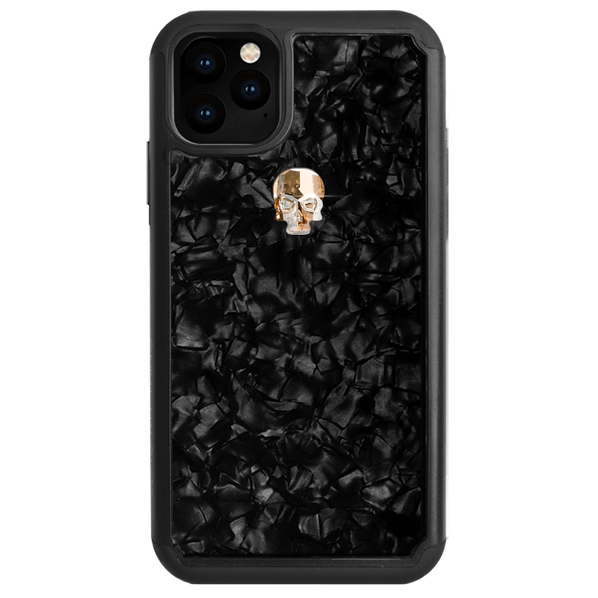 TREASURE ᛫ BLACK SHELL ᛫ protective cover with Swarovski Crystals for iPhone 11 - Bling My Thing