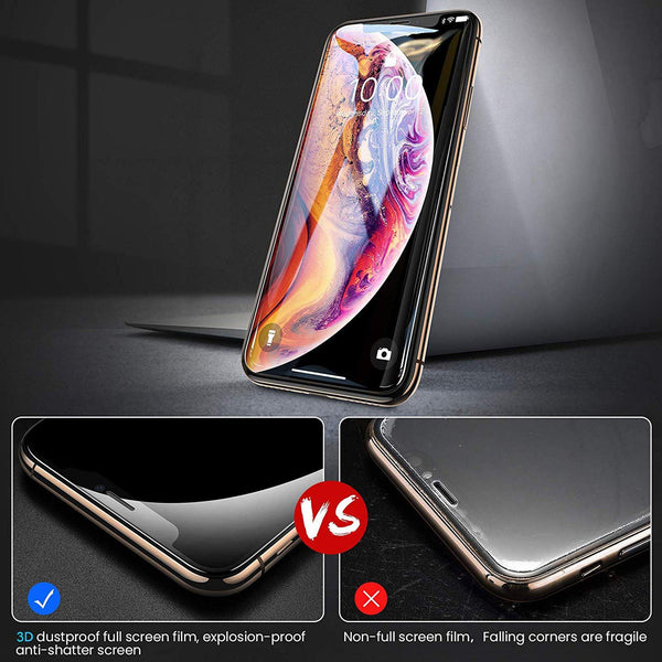 [0.33mm thick] 3D Tempered Glass Screen Protector 9H for iPhone XS Max